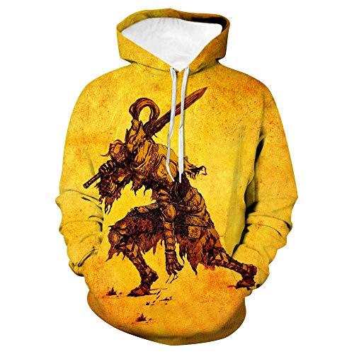 Herbst Und Winter Paar Modelle 3D Digitaldruck Sweatshirt Battlefield Samurai Large Size Pullover Langärmelige Baseballuniformen Für Männer Und Frauen-L