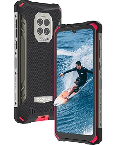 Movil Resistente, DOOGEE S86 Pro [2021] 8GB +128GB Movil, 8500mAh Batería con Termómetro Infrarrojo, IP68 IP69K Moviles Antigolpes, Triple Cámara 16 MP, Helio P60 4G Smartphone, 6.1inch, NFC, Rojo