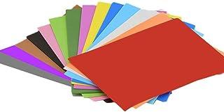 Hoja de GOMA EVA (14 piezas) -8x12 Pulgada-2 mm Tamaño A4 grueso para actividades de manualidades para niños Cortadores de bricolaje Art-21x30cm (Multicolor)