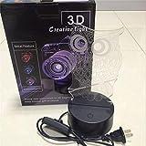 3 Farben LED Nacht Cartoon Eule 3D Tischlampe Kinder Spielzeug Geschenk Hologramm s Rot Blau Purpleable Mood 80CM US EU