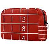 Bolsa de Cosméticos Bolsa de Maquillaje de Patrón de la Moda Bolso Cosmetico Multipropósito con Cierre de Cremallera Viajes Organizador Parque Infantil Red Runway 18.5x7.5x13cm
