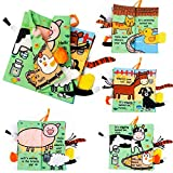 Eutionho Baby Soft Books, Bath Baby Cloth Book, First Year 3D Animals Tails