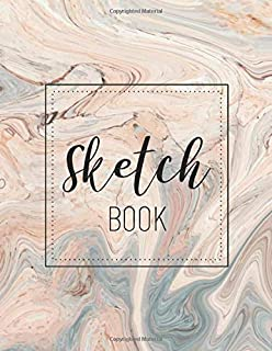 Sketch Book: Notebook for Drawing, Writing,Painting, Sketching or Doodling|Sketch Pad Marble Background Cover|Doodling Pad...
