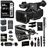Panasonic HC-X1 4K Ultra HD Professional Camcorder, Lexar 1667x 64GB Memory Card, VidPro XLR Mic, 2 Spare Batteries/Charger, 72' Full Size Monopod, Memory Card Reader, and Cleaning Kit