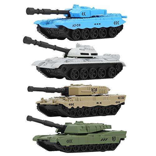 Yisentno Juguetes Militares, Juguete de Tanque de decoración, Mini 4 Piezas para niños(Alloy,...
