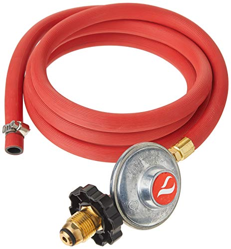 GasOne 2103 Gas One 6ft Propane Regulator POL and Hose Clamp Style Kit for LP/LPG Most LP/LPG Gas Grill, Heater and Fire Pit Table - Works Best with Older U.S. Propane Tanks