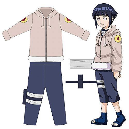CHANGL Tierisches Cosplay Naruto Hinata Hyuga Cosplay Kostüm Hyūga Hinata Cosplay Kostüm Juvenile Hyūga Hinata Halloween Party