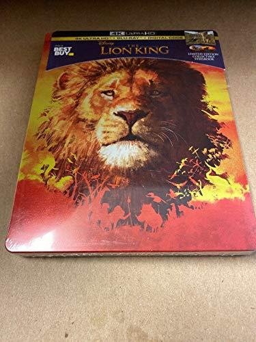LION KING Limited Edition STEELBOOK 2019 4K HD+Blu-ray+Digital Code Movie Best Buy