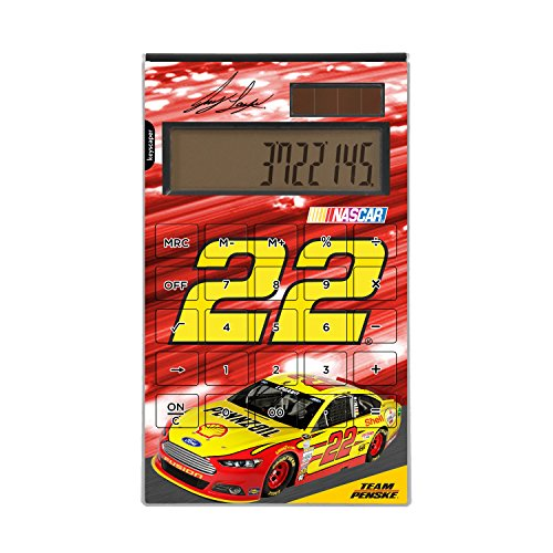 Joey Logano Desktop Calculator officially licensed by NASCAR Full Size Large Button Solar by keyscaper