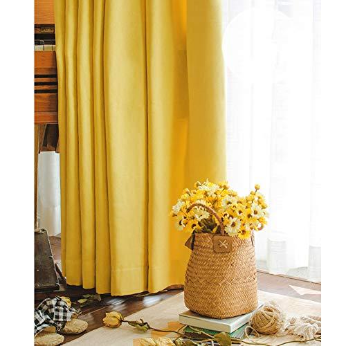 Cortinas para sala amarillas (opacas) 150x250 cm