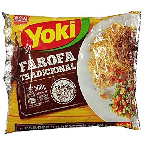 Yoki - Seasoned Cassava Flour - 17.6 Oz - Farofa De Mandioca Pronta Temperada - 500g (2 Pack)
