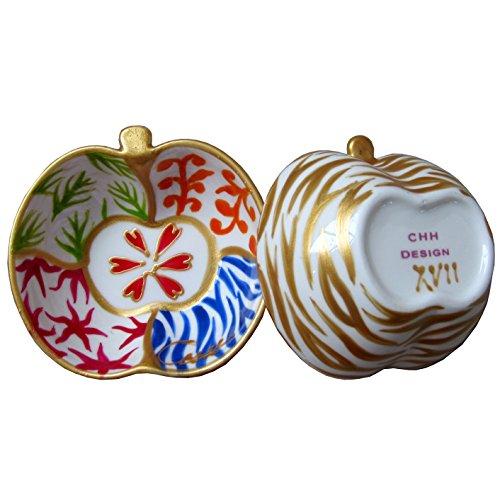 Caroline @ CHH Design Joli Petit Bol Forme Pomme, Vide-Poche, Arts de la Table 'Fresh' Peint à la Main sur Les Deux cotés