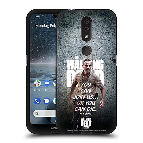 Head Case Designs Licenciado Oficialmente AMC The Walking Dead Únase a Nosotros Legado de Rick Grimes Funda de Gel Negro Compatible con Nokia 4.2