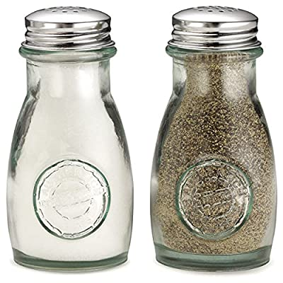 Authentic Recycled Salt & Pepper Shakers - Set of 2   Salt & Pepper Pots from drinkstuff