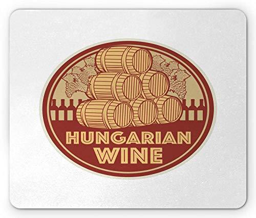 Hongarije muismat, Vintage Hongaarse wijn tekst stempel als culturele oogst nostalgische smaak, muismat
