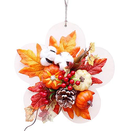RB 12inch herfstkrans voor voordeur, herfst kunstkrans met pompoenen, bessen, esdoorn laat vallen oogst krans voor de herfst bruiloft partij Thanksgiving halloween muur opknoping decor
