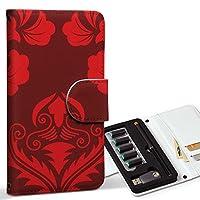スマコレ ploom TECH プルームテック 専用 レザーケース 手帳型 タバコ ケース カバー 合皮 ケース カバー 収納 プルームケース デザイン 革 チェック・ボーダー 模様 エレガント 赤 003713