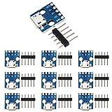 WayinTop 10 Unids Micro USB a Dip 5 Pines Adaptador de 2,54 mm Conector Hembra Tipo B de PCB Convertidor para DIY Fuente de Alimentación USB Diseño Tablero