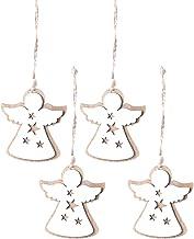 4 Pcs Xmas Ornament Wooden Hollow Decorative Pendant Hanging Decor Baubles Christmas Tree Decoration