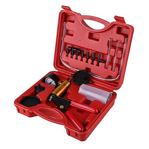 GOTOTOP Kit de purge de frein manuel avec pompe à vide pour voiture et moto avec étui de transport rouge