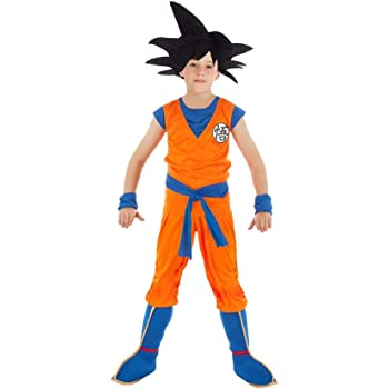 Chaks Disfraz Goku Dragon Ball Z niño 7 a 8 años: Amazon.es ...