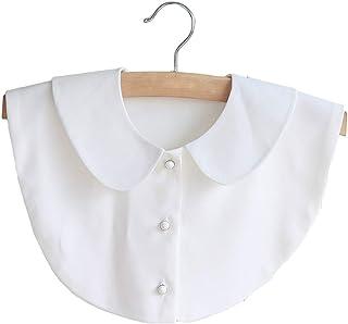 (ビグッド)Bigood レディース つけ襟 付け襟 フェイク襟 ブラウス 偽襟 カジュアル 重ね着 コーディネート シャツインナー 角襟 衿(ホワイト)