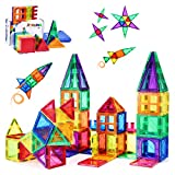 PLUMIA Magnets for Kids STEM Learning Toys 3D Building Magnetic Blocks Construction Magnet Toys for 3 Years Old Boys and Girls – 56 Pieces