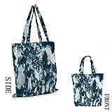 MarblePattern - Bolsa de la compra con diseño de mármol y texturas abstractas, color blanco y gris