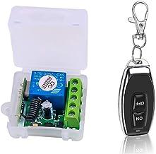 Festnight Smart Home 433 MHz DC 12 V 1CH draadloze afstandsbediening relais ontvanger zender module schakelaar universele ...
