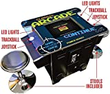 Classic Arcade Cocktail Arcade Machine 412 Games in one Commercial Console w TRACKBALL and Free STOOLS 3 Year Warranty