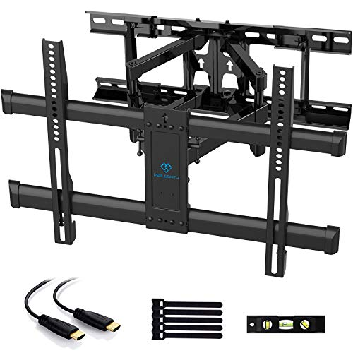"PERLESMITH Full Motion TV Wall Mount for Most 37-70 Inch TVs up to 132lbs - Fits 16"", 18"", 24""..."
