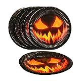 com-four® 32-teiliges Halloween Dekoset mit 100g Spinnennetz, Spinnen, Bechern, Teller, Servietten und Tischtuch für Halloween, Fasching und Mottopartys (032-teiliges - Halloweenset) - 5