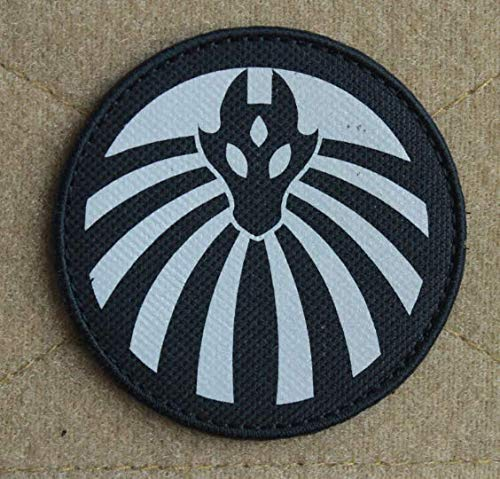 Foundation Special Containment Procedures Foundation SCP Mobile Task Force Infrared Reflective IR Nine-Tailed Fox Logo Military Patch Fabric Badges Patch Tactical Stickers for Clothes with Hook & Loop