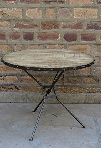 'Malmo' Industrial Round Table Folding Furniture House
