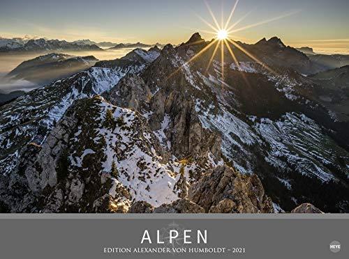 Alpen - Edition Alexander von Humboldt - hochwertiger Foto-Wandkalender 2021 mit Monatskalendarium und zusätzlicher Seite mit Informationen und geografischer Karte - Format 78 x 58 cm