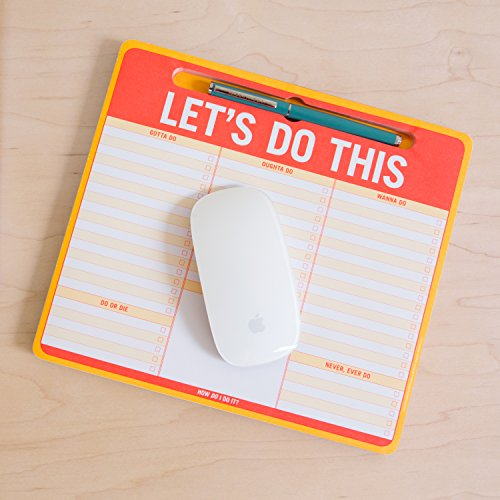 Knock Knock Let's Do This Paper Mousepad with Pen Holder (12613) Photo #4
