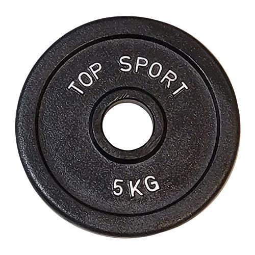 Body Built Platos de pesas olímpicos de hierro fundido de 2 x 5 kg, color plateado