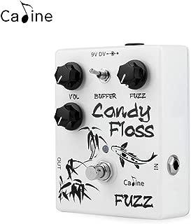 Caline Candy Floss Fuzz Guitar Effects Pedal True Bypass Aluminum Alloy Housing White CP-42