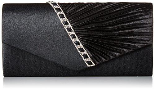 Damara Elegant Strassstein Damen Abendtasche Handtasche,Schwarz