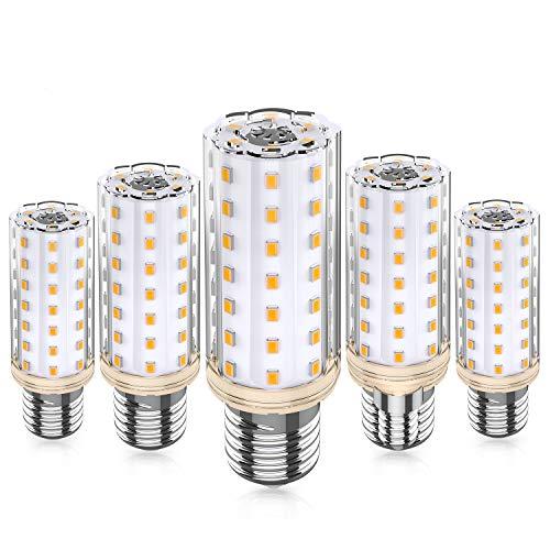 Eco.Luma E27 LED Lampen, 10W Ersetzt 100W Halogenlampe, 3000K Warmweiß E27 LED Mais Glühbirnen, Kein Flackern Leuchtmittel Nicht Dimmbar LED E27 Maiskolben Birnen, AC 220-240V, 5er Pack