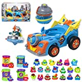 SuperThings Secret Spies Serie – Kazoom Racer Vehículo y Pack Sorpresa 24 Sets | Contiene Kazoom Racer, 20 Sobres One Pack, 4 Secret Hideout | Juguetes y Regalos para Niños Cumpleaños