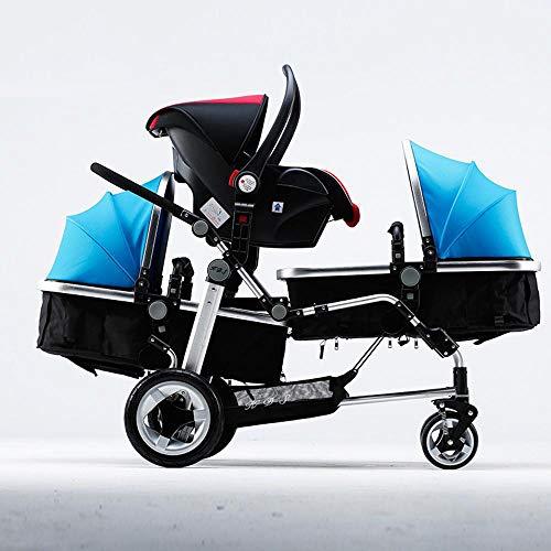 ZhiGe Kinderwagen Sport Drillinge Kinderwagen Baby Wagen High-Ansicht Kinderwagen Kinderwagen