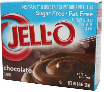 JELL-O Chocolate Sugar Free - Fat Free Schokoladenpudding 4er Pack