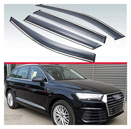 CGDD Windabweiser Für Audi Q7 4M 2016 2017 2018 2018 2019 Außende Visier Venor Lüftungsschirme Fenster Sonne Regenschutz Deflektor Autofenster Visier