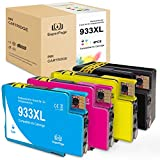 4 Superpage Compatible HP 933XL 932XL Cartucho de Tinta para HP Officejet 6700 6600 7510 7110 7612 6100 7610 7512,1 Negro,1 Cian,1 Magenta,1 Amarillo
