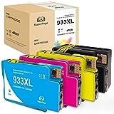 Superpage Ersatz für 933XL 932XL Druckerpatronen Kompatibel für HP Officejet 6700 6600 7510 7110 7612 6100 7610 7512 Drucker (1xSchwarz,1xCyan,1xMagenta,1xGelb)