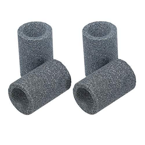 kwmobile 4X Dartpfeile Spitzer aus Sandstein - Dart Schleifstein für Metall Darts - Dartpfeil Anspitzer Schleifer in Grau