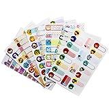 Meetory 8 Blätter Baby Flasche Etiketten, wasserdicht Durable Write-On Daycare Aufkleber, Selbstlaminierung, sortierte Stil & Farben, zufällige Stil