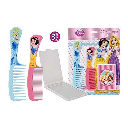 Lot de 2 peigne et 1 miroir Princesse Disney