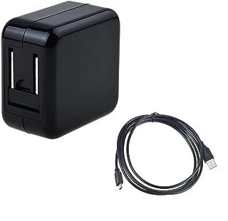 Digipartspower USB AC/DC Adapter+USB Charging Cable for BlueAnt Supertooth Light III 3, Bluetooth Headset X5 X5i, S1 Sun Visor BTSVBC3 BTSLBC3 Bluetooth Hand Speaker Phone Speakerphone Charger PSU